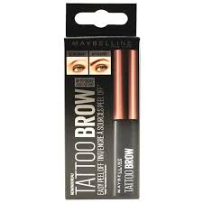 tattoo eyebrows by maybelline tattoo brow peel off tint 4 6 gr dark brown