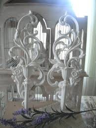 Shabby Chic Wall Sconces Pair Candle Wall Sconces Shabby Chic Wall Deco Baroque Hollywood