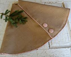 burlap tree skirt tree skirt burlap tree skirt christmas tree white ticking