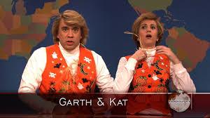 watch weekend update garth and kat sing halloween songs from