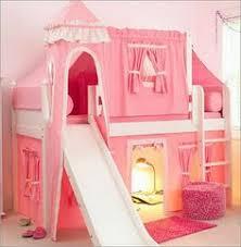 Castle Bunk Bed With Slide Pink Princess Bunk Bed Decorative Bedroom Kinderkamer