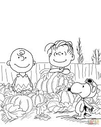 pumpkin charlie brown coloring free printable