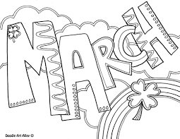 march coloring page printables pinterest march
