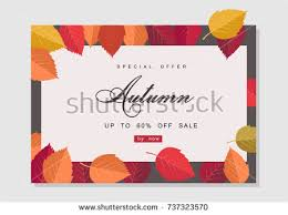 autumn sale background template poster card stock vector 728248900
