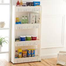 Narrow Storage Shelves by Narrow Rolling Pantry Shelves Wayfair