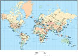 Map Of Globe World Map With Countries And Capitals World Map With Countries