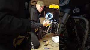 2015 street glide daymaker headlight install youtube