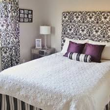 Diy Quilted Headboard by Diy Headboard Foam Core Board And Fabric Attached To The Wall