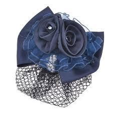 buy polyester bowknot hairnet metal clip