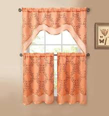 Rust Colored Kitchen Curtains Orange Kitchen Curtains U2013 Teawing Co