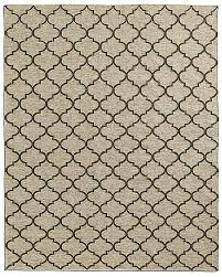 Moroccan Outdoor Rug Knotted Moroccan Tile Flatweave Outdoor Rug Ivory Charcoal