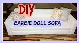 How To Make Dollhouse Furniture Out Of Household Items Diy Barbie Doll Sofa Dollhouse Furniture Youtube