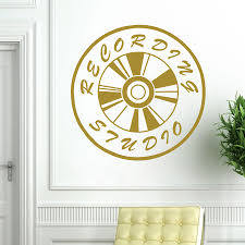 online get cheap music wall decals quotes aliexpress com music studio vinyl art mural wall decal quotes recording studio sign removable wall stickers home creative