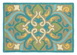 Green And Brown Area Rugs Companyc Morocco Aqua Indoor Outdoor Area Rug U0026 Reviews Wayfair