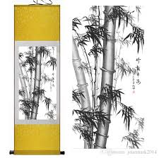 Decorative Pine Trees 2017 Bamboo Painting Home Office Decoration Chinese Scroll