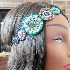 beaded headband best turquoise beaded headband products on wanelo