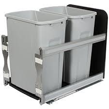 Kitchen Cabinet Trash Can Pull Out Amazon Com Knape U0026 Vogt Usc15 2 35pt In Cabinet Soft Close Pull