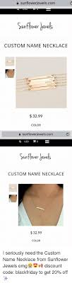 get name necklace sunflowerjewelscom sunflower custom name necklace keley ady 3299