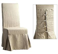 Home Goods Chair Covers Wonderful Short Dining Chair Cover In Beautiful Textured Linen