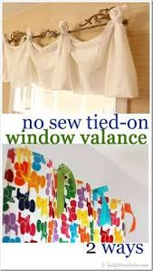 How To Make A No Sew Window Valance The 25 Best No Sew Valance Ideas On Pinterest Bathroom Valance