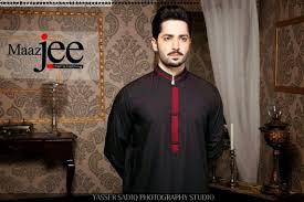 maaz jee mid summer eid dress kurta shalwar collection 2014 for
