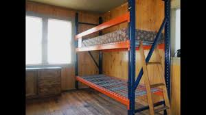Make Loft Bed With Desk by D I Y Biggest Badest Bunkbed Cheap Free Info Youtube