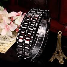 mens bracelet digital images Makibes lava watch men watch stainless steel led red digital watch jpg