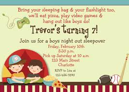 Invitation Card 7th Birthday Boy Birthday Invitations Free Sleepover Sleepover Birthday Party