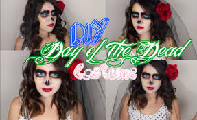 day of dead costume diy day of the dead inspired makeup veil and costume