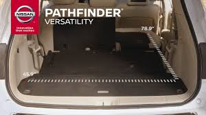 nissan murano trunk space 2017 nissan pathfinder cargo versatility youtube