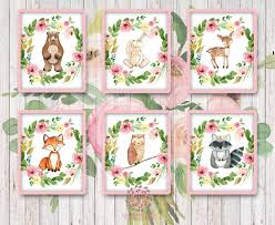 Woodland Home Decor Bear Bunny Deer Fox Owl Raccoon Woodland Boho Bohemian Garden
