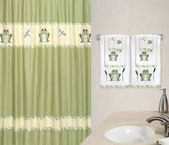 Bathroom Decor Shower Curtains Frog Bathroom Decor Shower Curtain Office And Bedroom