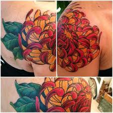 yellow chrysanthemum tattoo designs photos pictures and
