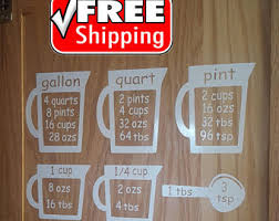 kitchen measurement conversion decal