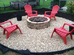 Firepit In Backyard Pit Backyard Garden Design