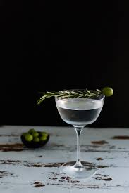 martini twist portrait of a cocktail smoked rosemary oil dirty martini