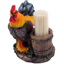 amazon com farm rooster and old fashioned water pail toothpick