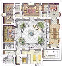 home plans with pictures of interior center courtyard house plans with 2831 square this is one