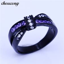 aliexpress buy 2017 wedding band for men 316l aliexpress buy choucong 2017 cross rings purple cubic