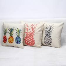 Lawn Chair Cushion Covers Pineapple Cushion Cover Red Blue Yellow Fruit Cushion Cover Square
