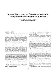 impact of globalization and offshoring on engineering employment
