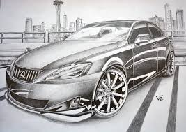 stanced cars drawing stanced lexus is350 on vossen vvs083 wheels by vtahlick on deviantart