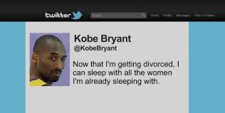 Kobe Rape Meme - kobe bryant tweets about his divorce funny