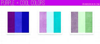 what goes well with blue color that matches with purple top colors that go well together