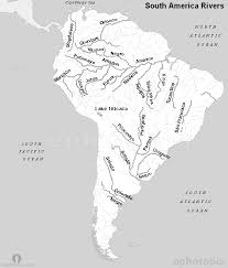 map of and south america black and white south america rivers map black and white rivers map black and