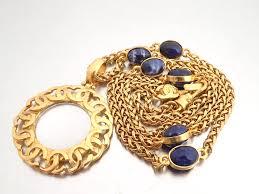vintage blue stone necklace images Brandvalue rakuten global market chanel chanel accessories here jpg