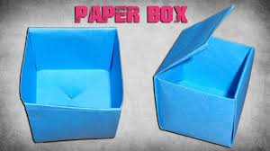 how to make a paper box easy origami paper crafts for kids youtube