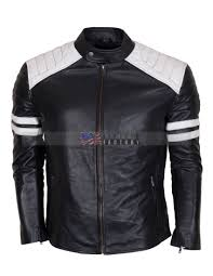 mens leather motorcycle jackets fight club hybrid black leather biker jacket usa leather factory
