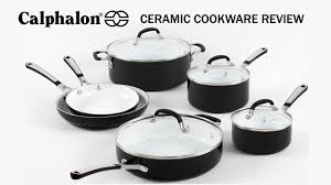 calphalon ceramic cookware product review youtube