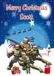 personalised teenage mutant ninja turtles christmas card
